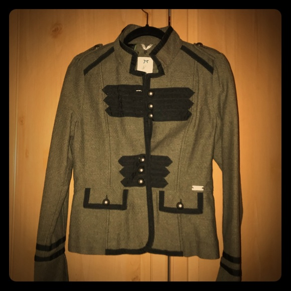 DEPT Jackets & Blazers - NWOT DEPT Military-Style Fitted Blazer